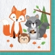 Woodland Animals Lunch Napkins 2 ply / 16