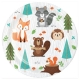 "Woodland Animals 7"" Dinner Plates / 8"