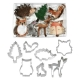 Woodland Animals Shaped Cookie Cutters Set / 4