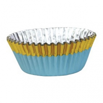 Blue with Gold Foil Baking Cases / 30