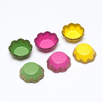 Yellow, Pink and Green Candy Cups (29x16 mm) / 75