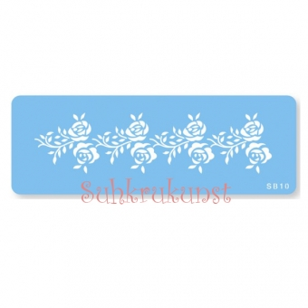 Rose Frieze Border Stencil, 205x40 mm