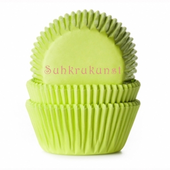 House of Marie Baking Cups Lime Green / 50