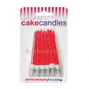 Red Glitter Candles / 12