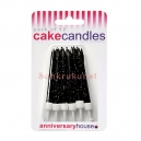 Black Glitter Candles / 12