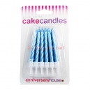 Pearlescent Blue Cake Candles / 12
