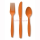 Sunkissed Orange Premium Plastic Cutlery Set / 24