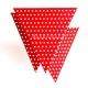 Red Jointed Banner With Dots, 2.7m