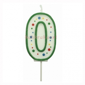 Small Numeral 0 Candle, 43mm