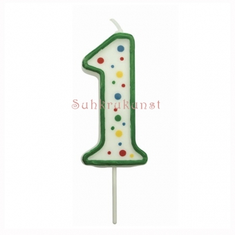 Large Numeral 1 Candle, 63mm