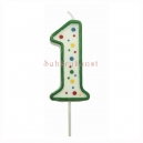 Small Numeral 1 Candle, 43mm