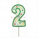 Large Numeral 2 Candle, 63mm