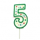 Small Numeral 5 Candle, 43mm