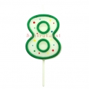 Large Numeral 8 Candle, 63mm