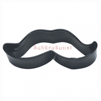 Moustache Black Cookie Cutter, 10.2 cm