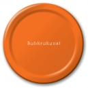 "Sunkissed Orange 9"" Dinner Plates / 8"