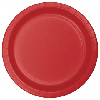 """Classic Red 9"""" Dinner Plates / 8"""