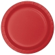 "Classic Red 9"" Dinner Plates / 8"