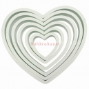 Plastic Heart Cutter Set / 6