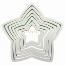 Plastic Star Cutter Set / 6