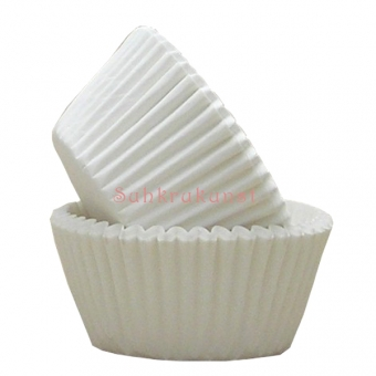 White Plain Printed Baking Cases / 54