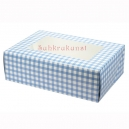Blue Gingham Coloured 6 Cupcake/Muffin Box
