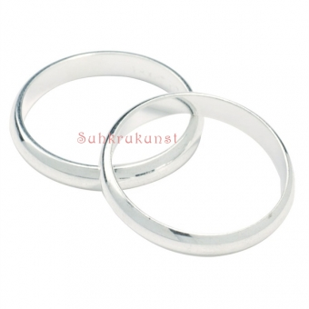 Silver Colour Wedding Ring, 17mm
