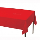Classic Red Plastic Tablecover, 137x274cm