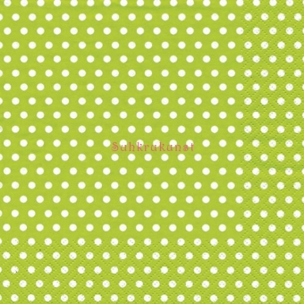 Lime Green Polka Dots ti-flair Lunch Napkins 3 ply / 20