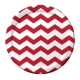 "Classic Red Chevron 9"" Dinner Plates / 8"