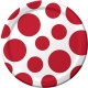 "Classic Red Polka Dot 7"" Lunch Plates / 8"