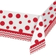 Classic Red Border Print Plastic Tablecover, 137x274cm