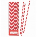 Red Paper Straws / 30