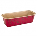 Disposable Mini Loaf Mould Red/Brown / 5