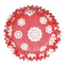 Snowflakes Printed Baking Cases / 54