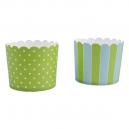Baking Cups Maxi Green and Sky Blue / 12