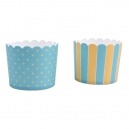 Baking Cups Maxi Yellow and Baby Blue / 12