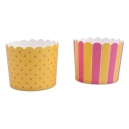 Baking Cups Maxi Yellow and Pink / 12