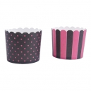 Baking Cups Maxi Black and Pink / 12
