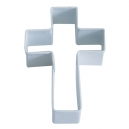 White Cross Cookie Cutter, 10.2 cm