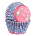 Baked with Love Foil Lined Baking Case Ditsy Daisy / 25