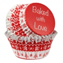 Baked with Love Foil Lined Baking Case Nordic Red / 25