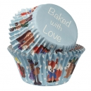 Baked with Love Foil Lined Baking Case Winter Friends / 25