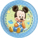 "Mickey Baby 9"" Paper Plates / 8"