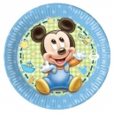 "Mickey Baby 8"" Paper Plates / 8"
